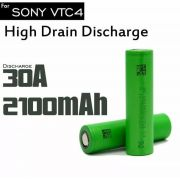 Bateria Sony VTC4 2100mAh Li-Ion US 18650 3.6V High Drain 30A Flat Top - Sony