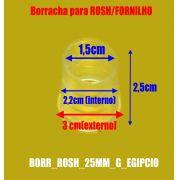 Borracha / Vedação para fornilho KM e outros egípcios ou artesanais, 25mm de altura. -BORR_ROSH_25MM_G_EGIPCIO