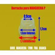 Borracha / Vedação para mangueira, 17mm de altura. Em silicone. - BORR_MANGUEIRA_17MM_FINA_BRANCA