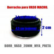 Borracha / Vedação para vaso/base em latéx preta. - Para stem Triton, Mya, Bes, Ranny, Judith, etc.