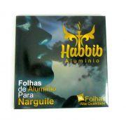 CAIXA de Folhas de Alumínio para narguile extra-grosso HABBIB, corte quadrado 16x16cm, 50 unid.