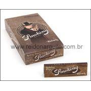 CAIXA de Seda SMOKING BROWN KING SIZE 78MM 25 livros c/ 33 papéis cada
