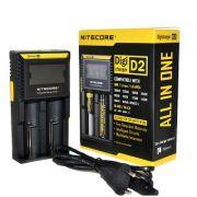 Carregador de Baterias Nitecore® Digicharger D2 EU - p/2 baterias (18650 14500 16340 26650mAh)