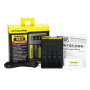 Carregador de Baterias Nitecore® NEW i4 - p/4 baterias (18650 14500 16340 26650)