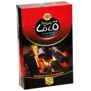 Carvão de coco para narguile FOREVER COCO, formato HEXAGONAL, tamanho EXTRA GRANDE - caixa 1kg, 40un