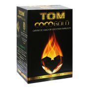 Carvão de coco TOM COCO, formato CÚBICO - caixa 1kg, 64 unid.