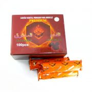 Carvão EXTRA-GRANDE (BOLACHÃO) em tabletes redondos BURNABLE CHARCOAL com pólvora com o DOBRO do tamanho CAIXA 100 unid.