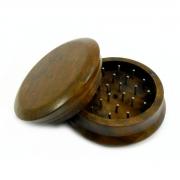 Desfiador / triturador / dichavador em METAL CROMADO maciço, tamanho GRANDE (6,5cm diâm 3,0cm alt).
