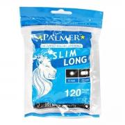 Filtro Palmer, slim long (6mm diâmetro e 22mm de comprimento. Pacote com 120 unidades.