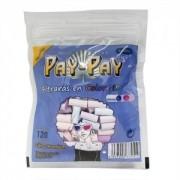 Filtro Pay-Pay para Cigarros. Tamanho Slim 6mm, algodão COLORIDO. Pacote com 120 unid.