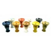 Fornilho / Rosh MD Cerâmica, tipo funil, acinturado em duas cores 10cm de altura. FORN_MD2_CERAMICA
