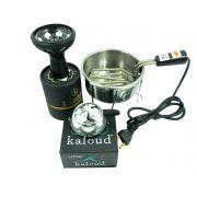 Kit: Controlador Kaloud Lotus + Rosh Samsaris Vitria + Fogareiro Grande (preto)