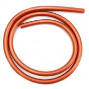 Mangueira p/narguile em silicone antichamas super flexível e leve. Encaixa todas as piteiras. 1,60m. Cobre / Marrom.