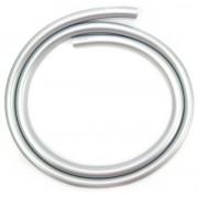 Mangueira p/narguile em silicone antichamas super flexível e leve. Encaixa todas as piteiras. 1,60m. Prateado.