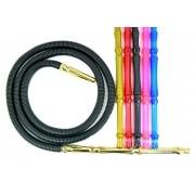 Mangueira p/narguile lavável BRASUKA piteira colorida - 2,15 m. / 5cm circunferência /Leve: 80g