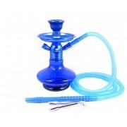 Narguile MD Hookah ALADIN 25cm AZUL. Vaso Genie azul, stem usinado em alumínio, pintura anodizada, mang. lavável