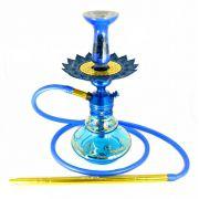 Narguile Triton Zip azul, vaso Aladin Nasa, mangueira silicone, piteira alumínio,rosh Dr.Ed, prato Artemis.