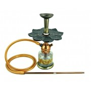 Narguile Triton Zip COBRE, vaso Nix marrom, mangueira silicone, piteira alumínio, rosh alumínio bronze, prato Athena