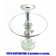 Prato marca Kimo luxo 20 cm em vidro transparente. - PRATO_KIMO_VIDRO-P