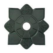 Prato para narguile MOON LUA (réplica IMPERIAL) PRETO LISO. 28cm de diâmetro total, 4cm de furo.