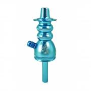 Stem (corpo de narguile) MALIK SETH, em alumínio maciço, 20 cm. Azul.