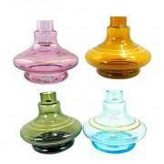 Vaso/base para narguile Aladin/Gênio 14,5cm, marca MD HOOKAH, decorado c/LISTRAS douradas. Encaixe macho.