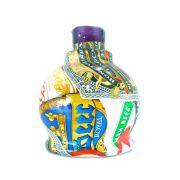 Vaso/base para narguile BALL em plástico ESTAMPA HIDROGRÁFICA. 13,5cm alt.; 3,9cm bocal (macho). Beer Label (rótulos de