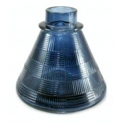 Vaso/Base para narguile base larga, encaixe macho, padrão para stems pequenos 11cm alt. Preto
