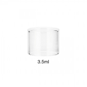 Vidro para vaporizador NRG SE, Smok TFV8 Baby, TFV12 Baby Prince, Pen 22, Spirals. 22mm diâm/19,5mm alt LISO 3,5ml.