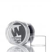 Vidro para vaporizador Wotofo c/atomizador Profile Unity  5,0 ml. 25mm diâmetro e 15mm altura-1 un.