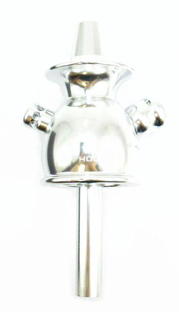 Stem (corpo de narguile) MD Hookah em alumínio - Cor Prata / Cromado.