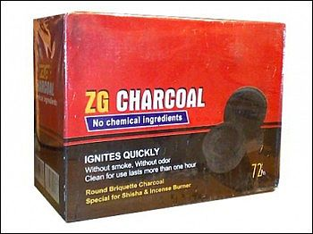 Carvão para narguile ELBA (ZG - Zoghal Ghaleb) -  CAIXA 72 unidades