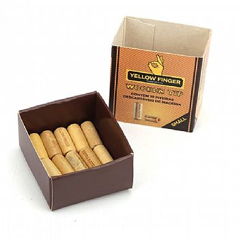 Piteira de madeira YELLOW FINGER 10 unidades - Para sedas pequenas e grandes.