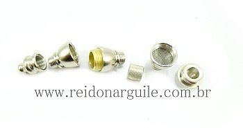 Pipe/cachimbo em metal ULTRA 420, não oxida, 6cm.