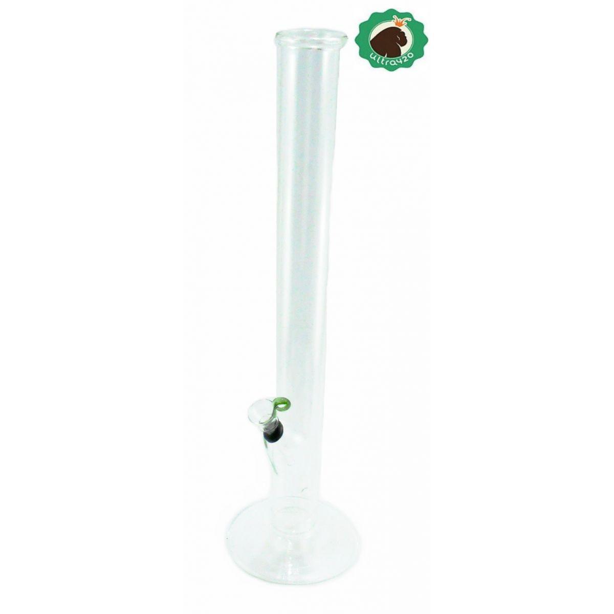 Bong de pirex TX 8, alto, 40cm, formato de torre. Bowl de borracha.