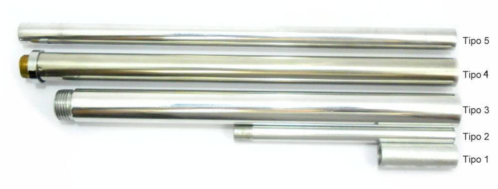 Tubo FINO para narguile 12cm, 1,0cm de diâmetro, rosca 0,9mm tipo MACHO