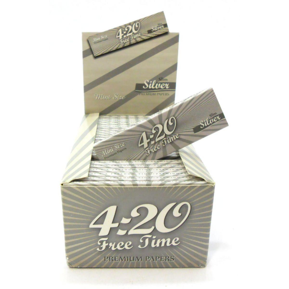 Caixa de seda ULTRA420, MINI SIZE, SILVER, caixa com 50 livros com 50 folhas cada.