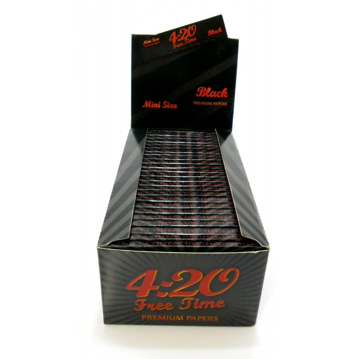 Caixa de seda 4:20 Free time Black - Pequeno 78mm - CAIXA 50 livros X 33 folhas