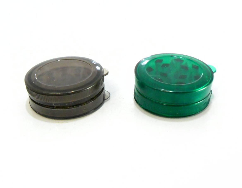 Desfiador / triturador / dichavador em acrílico com compartimento e imã.