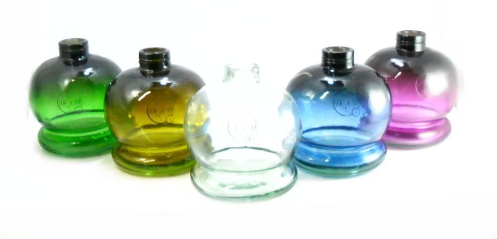 Vaso/base para narguile Dr. Ed BABILÔNIA vidro, encaixe macho, bojudo, pintura degradê, 14 cm.