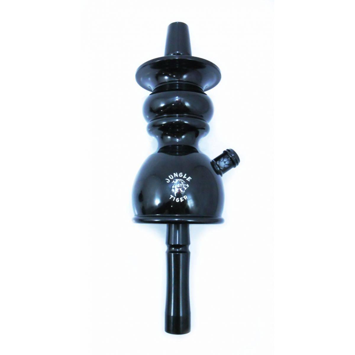 Stem (corpo de narguile) TIGER PRETO 64cm. Alumínio, híbrido (monte grande ou pequeno). Vasos encaixe macho/fêmea.