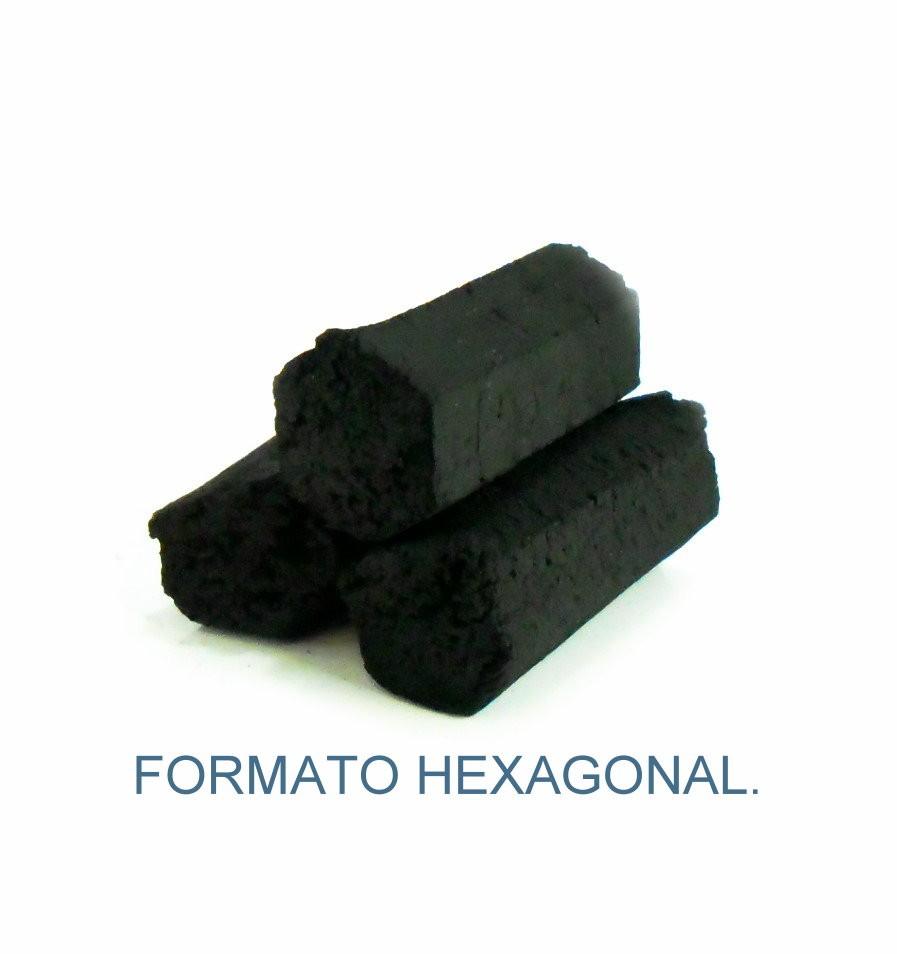 Carvão de coco para narguile e incenso YAHYA - caixa 250gr, 15 unidades HEXAGONAL.