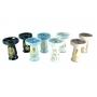 Fornilho/Rosh BETA BOWL MINI GOLD c/ desenhos DOURADOS, cerâmica refratária. 9 cm altura, 6,5 cm bocal.