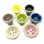 Fornilho/Rosh para narguile, em cerâmica, modelo tradicional (5 furos). 6,0cm alt., 6,0cm de diâm.