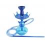 Narguile Anúbis Velvet Azul escuro, vaso Aladin, mangueira de silicone, piteira alumínio, rosh B-King, prato Alteza