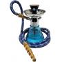 Narguile MYA Petite 21cm AZUL. Vaso base larga azul, stem usinado em liga metálica com revestimento cromado.