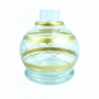 Vaso/base para narguile em vidro, CHAMMA BAMBINO formato BALL. 13cm alt. Encaixe macho (interno).