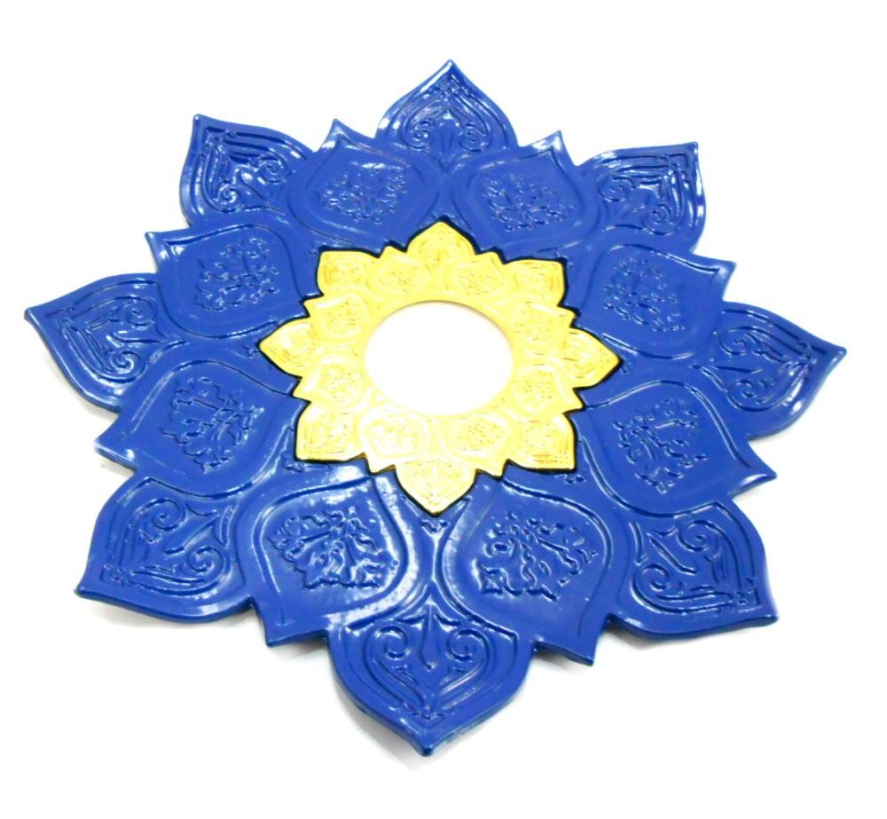 Narguile TRITON ZIP 35cm: Vaso Kimo AZUL dourado, fornilho alumínio azul, Prato Azul, mang. silicone