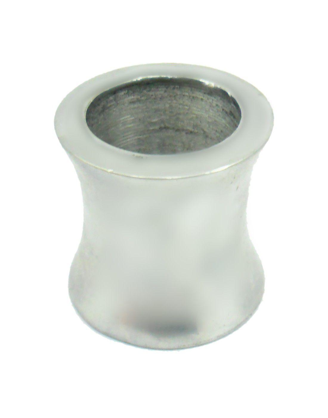 Adaptador para encaixar narguile em garrafa, em alumínio, pintura resistente. ADAPTADOR PARA GARRAFA Cromado/Polido