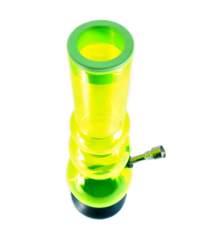 Bong de acrílico GRANDE 33cm REI DO NARGUILE, base removível de borracha, protetor de borracha no bocal.